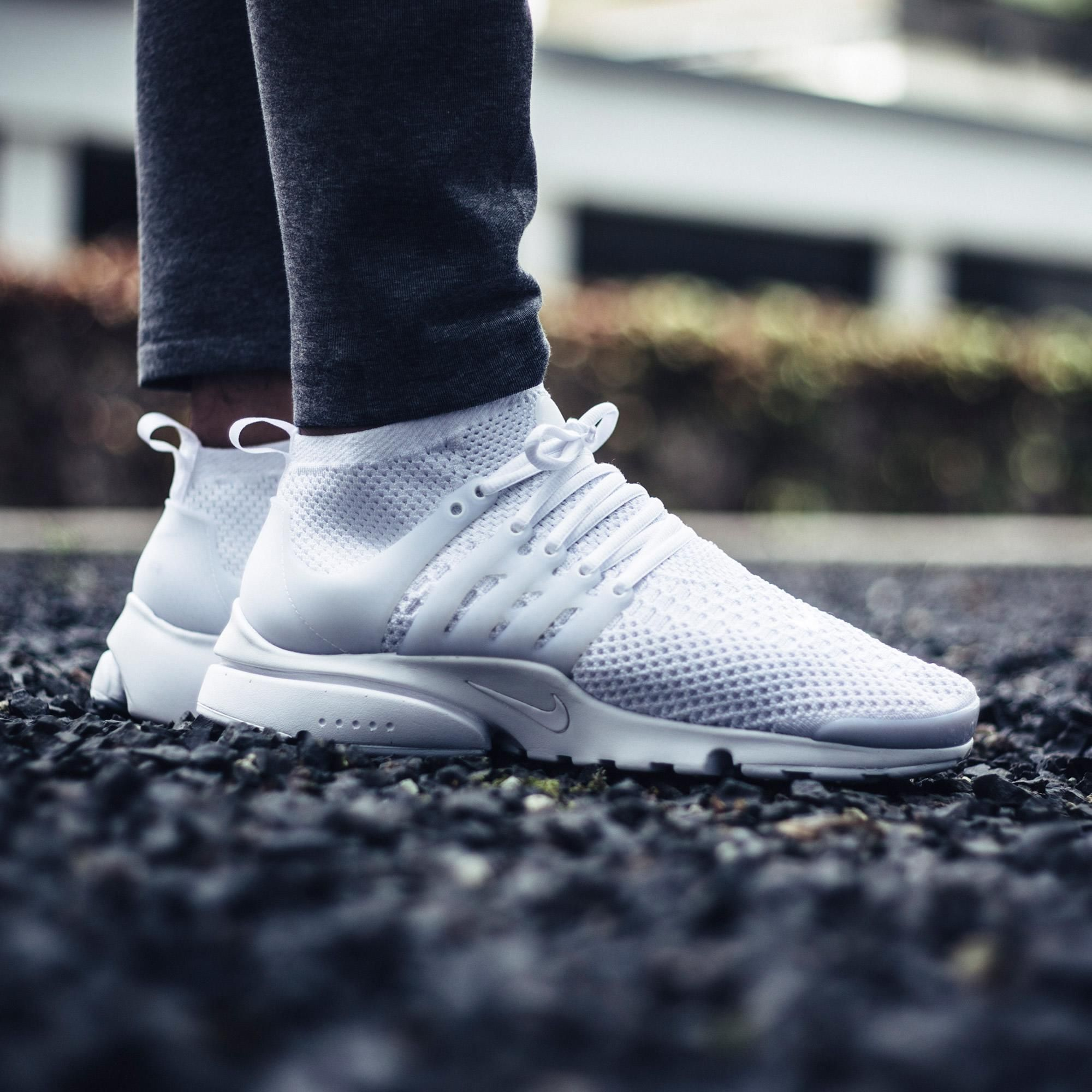 sale retailer 2282b 370b9 An On-Feet Look At The Nike Air Presto Flyknit Ultra White