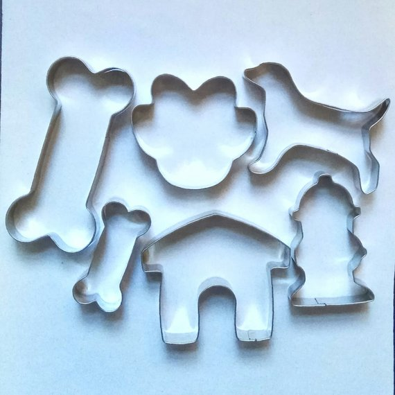 Dog Bone Paw fondant Baking Biscuit Stainless Steel Cookie Cutter Set