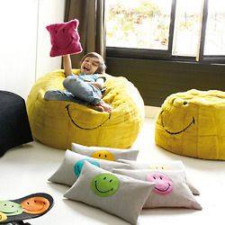 Smiley cushions and poufs. Look at www.smiley.com