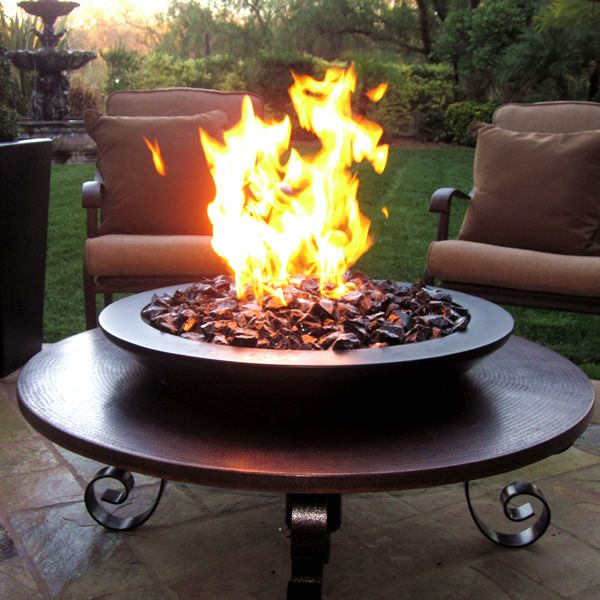 43 Vulsini Manual Ignition Fire Pit Copper Outdoor Fire Pit
