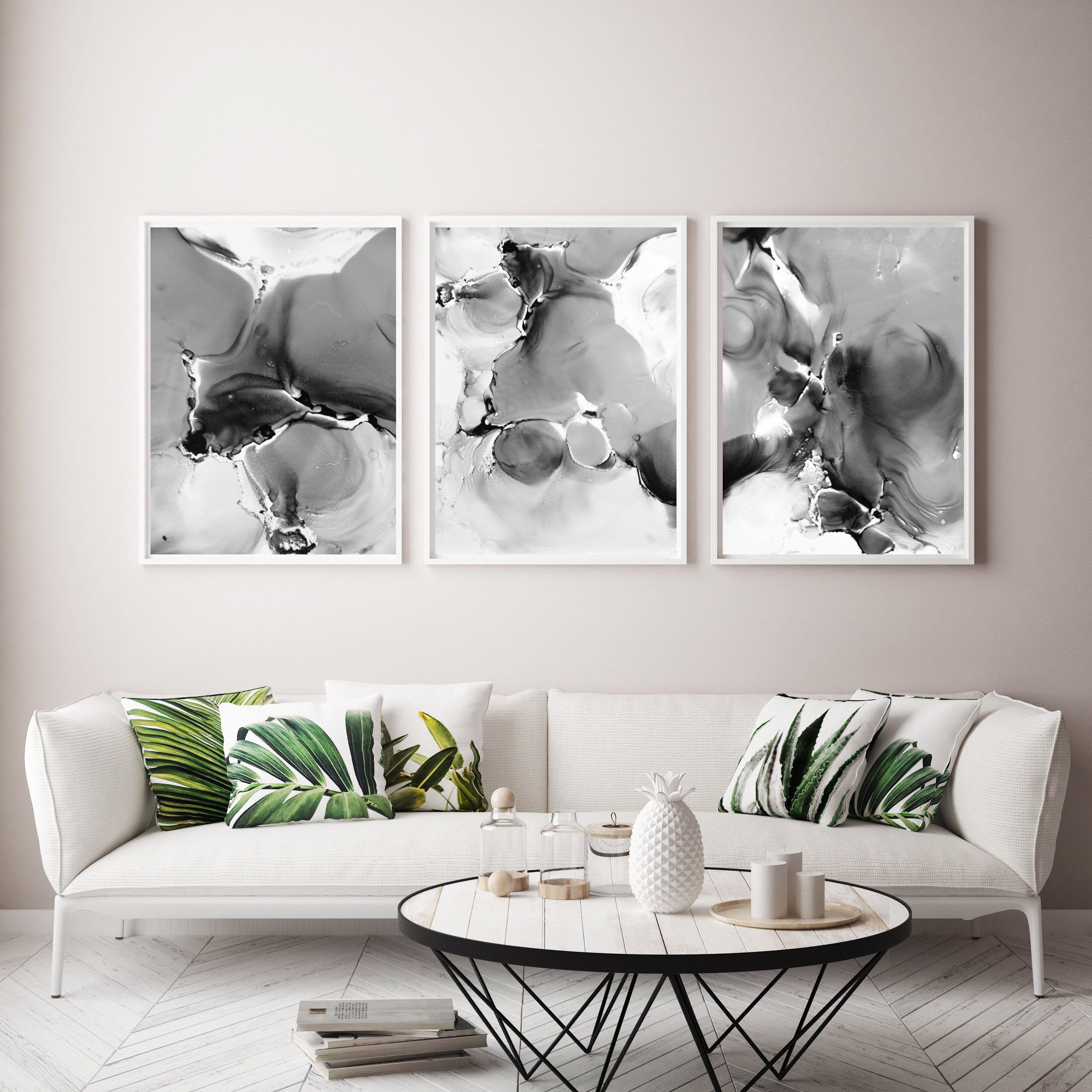 3 Piece Wall Art Large Printable Art Printable Abstract Art Etsy In 2020 3 Piece Wall Art Printable Art Printable Art Set