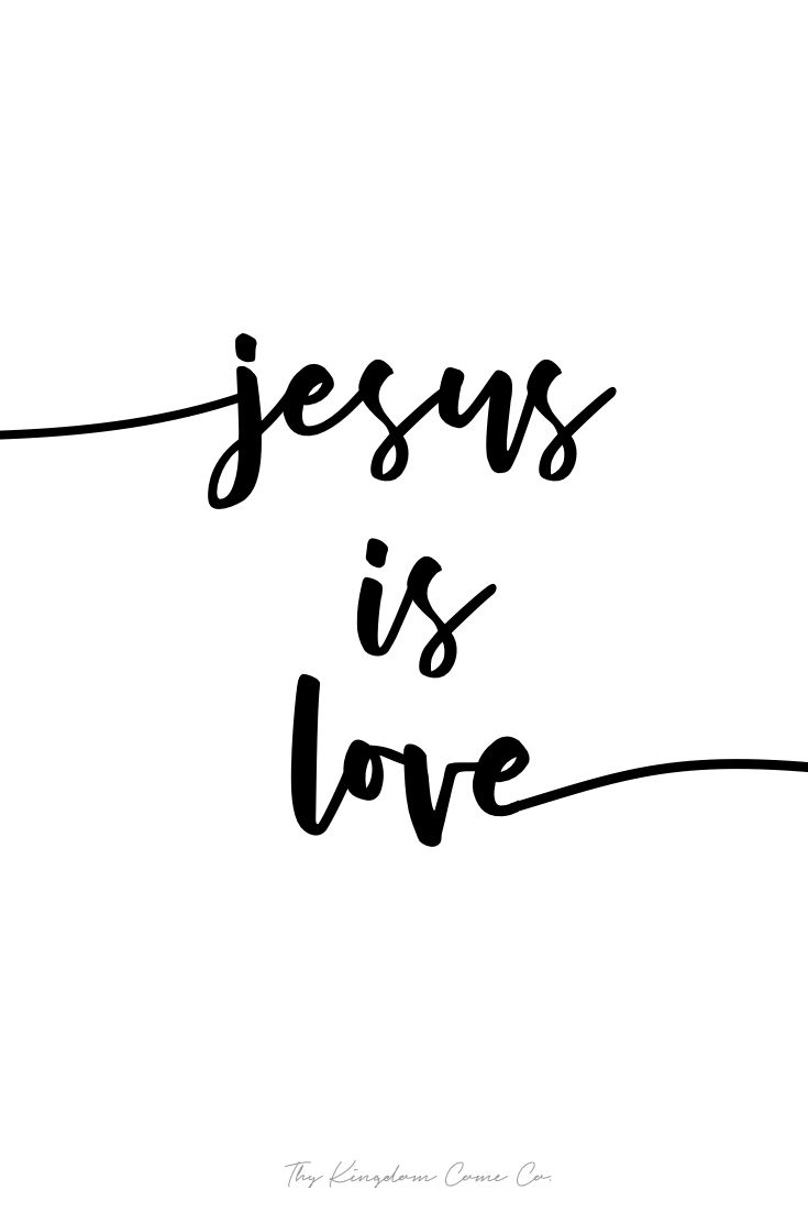 Jesus is love john bible verse calligraphy