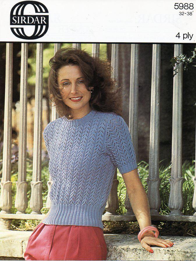 Vintage Crochet Pattern-Ladies Summer Vest//Top//Sweater-PATTERN ONLY-4-Ply ±008