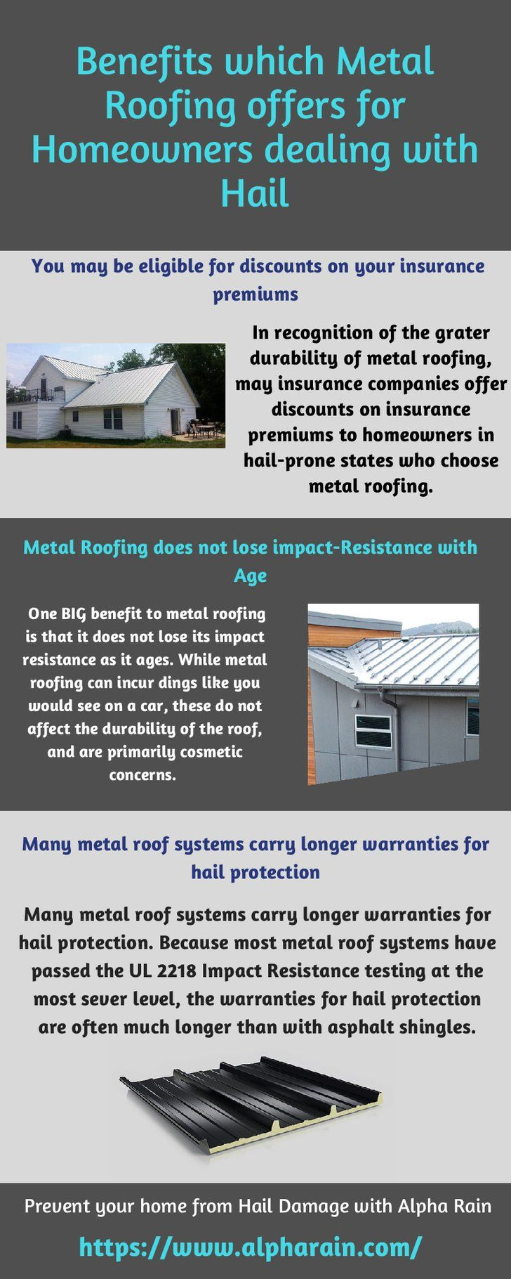 Metal Roofing To Prevent Hail Damage Alpha Rain Install Metal Roof To Prevent Your Roof From Hail Damage Alpha Rai Metal Roof Roofing Services Installation