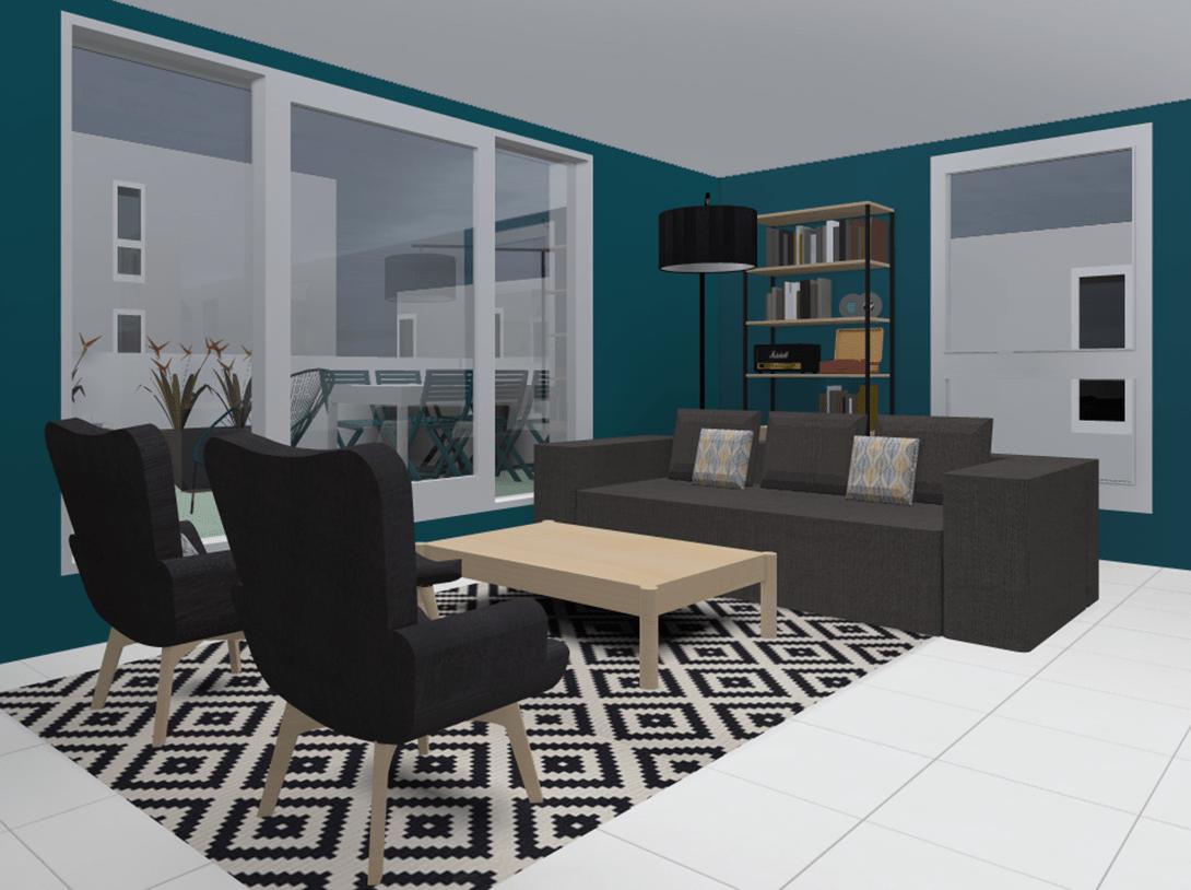 3d Un Salon Au Style Vintage Industriel Et Contemporain Living