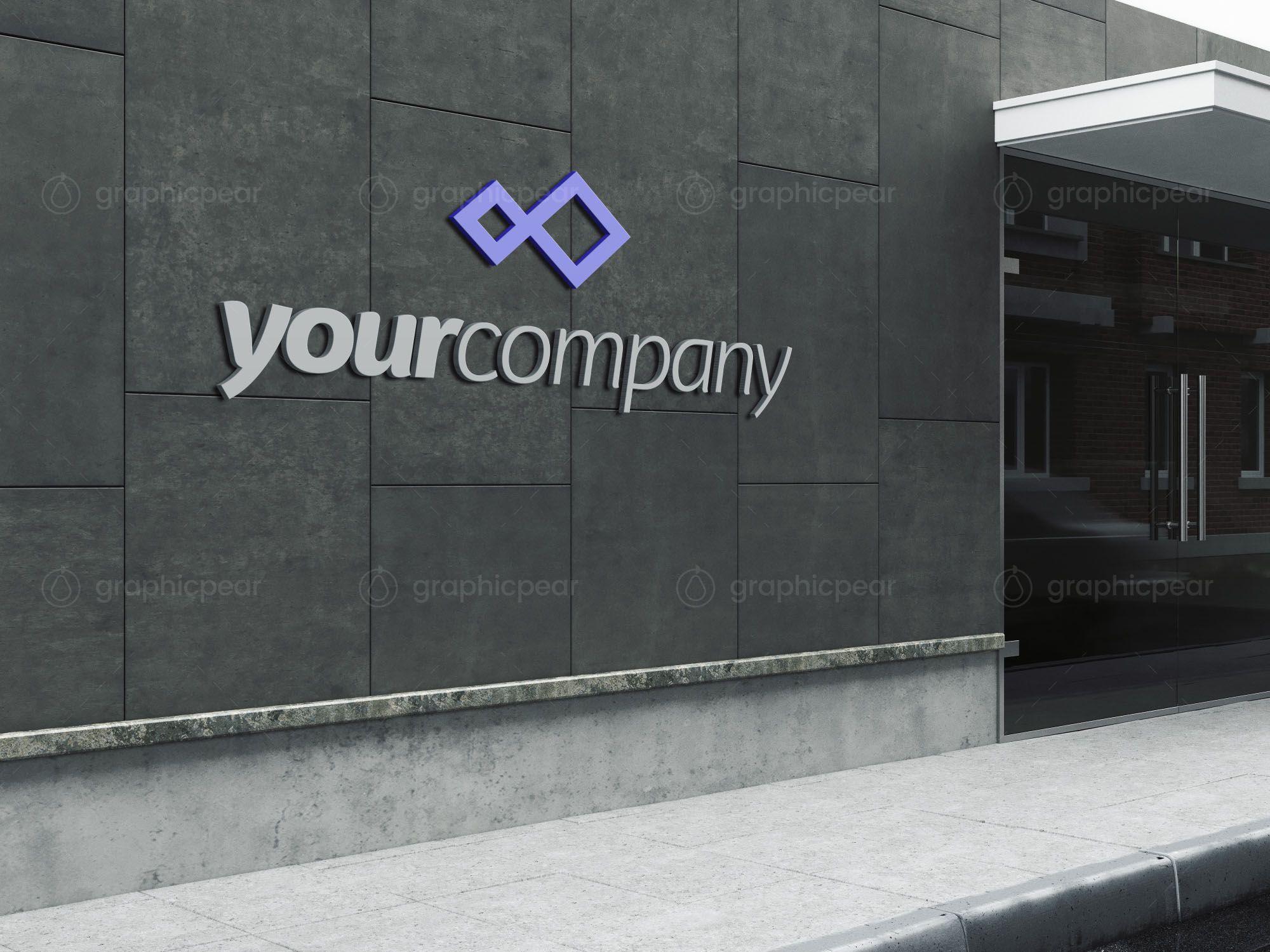 Company Sign Mockup Sign Mockup Mockup Free Psd Building Signs