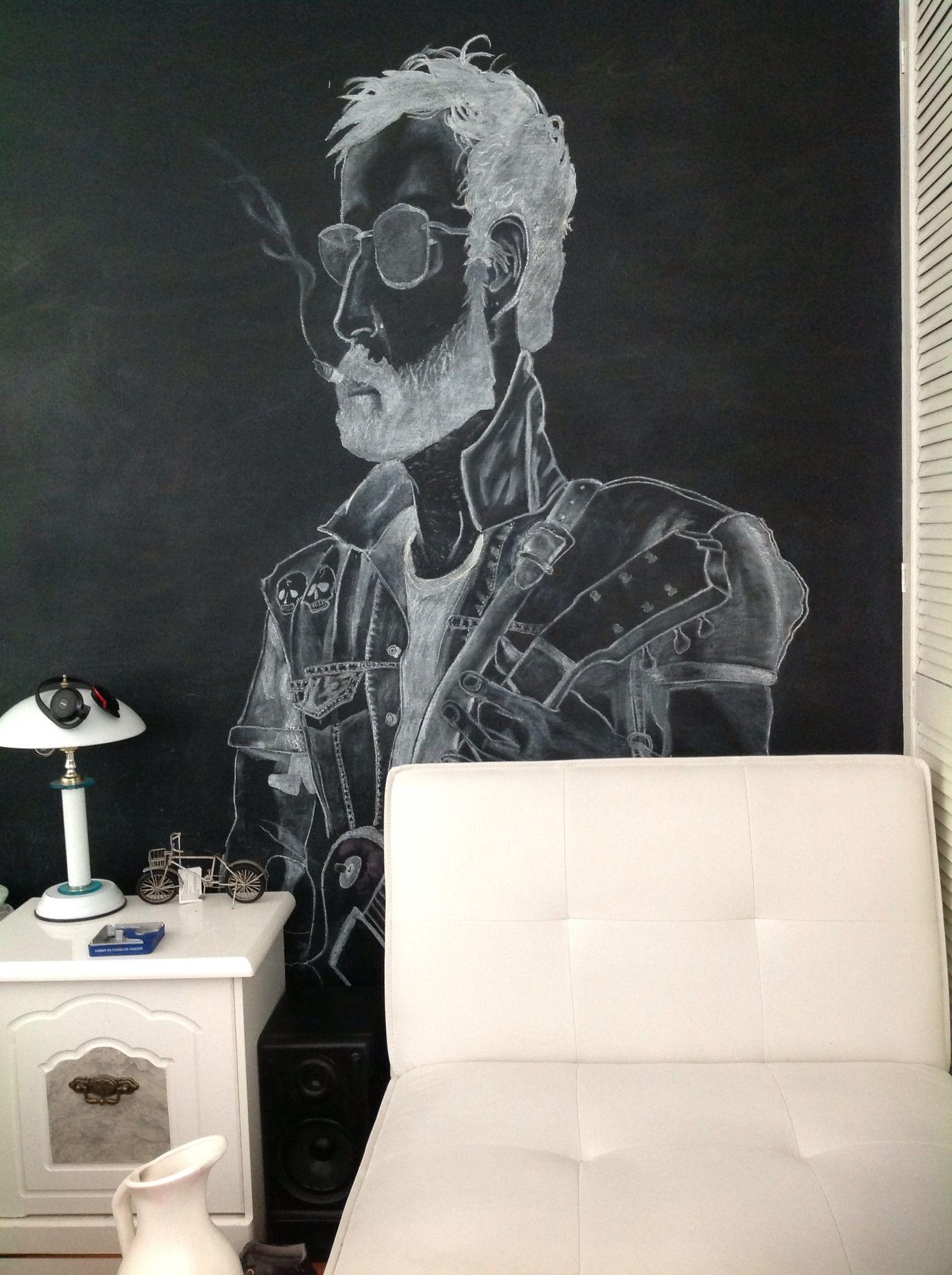 Tito Fuentes #Molotov my #room #Draw black and white bedroom blackboard