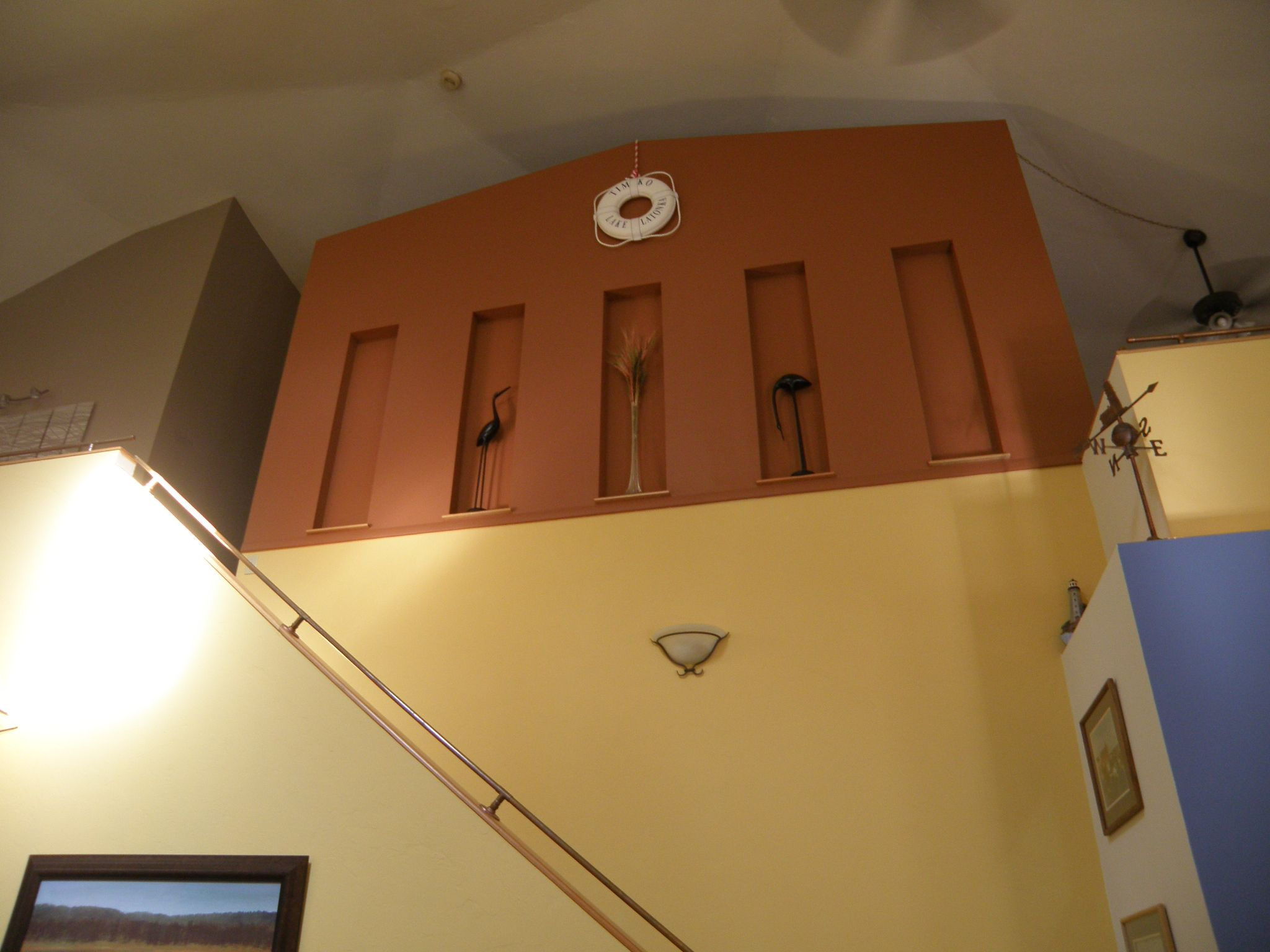 my ceiling is 30' high! my stair rail is copper ship rails