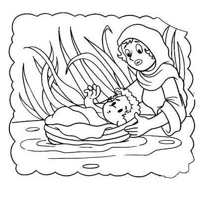 moses miriam exodus baby child children kid girl water