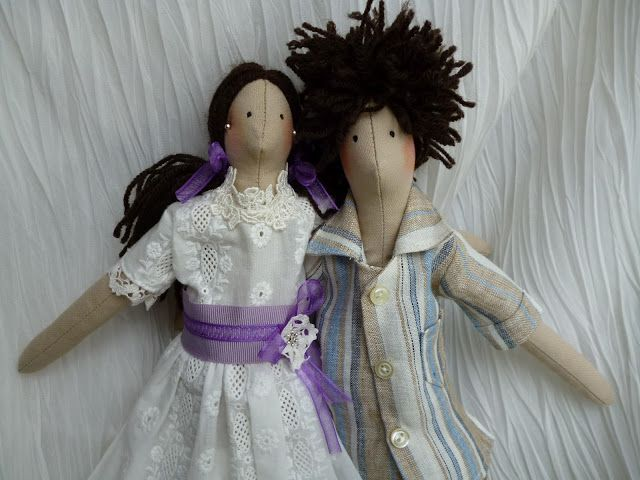 Anilegra moda para muñecas: PAREJITA MUÑECOS TILDA ,mi regalo de boda*