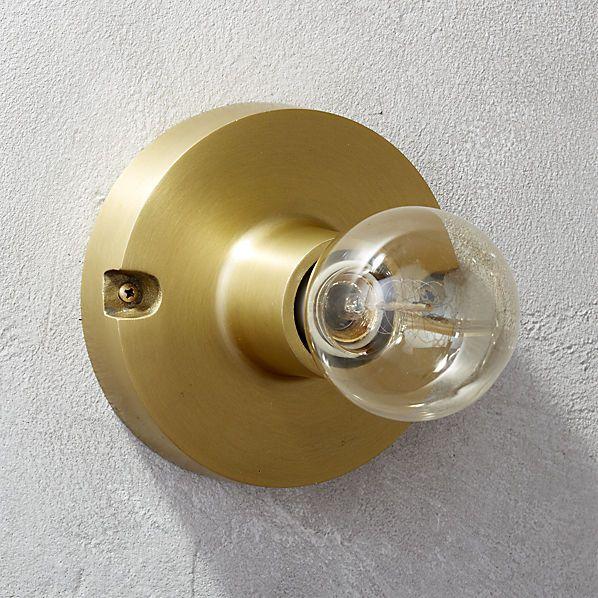 brass flush mount lamp  | CB2