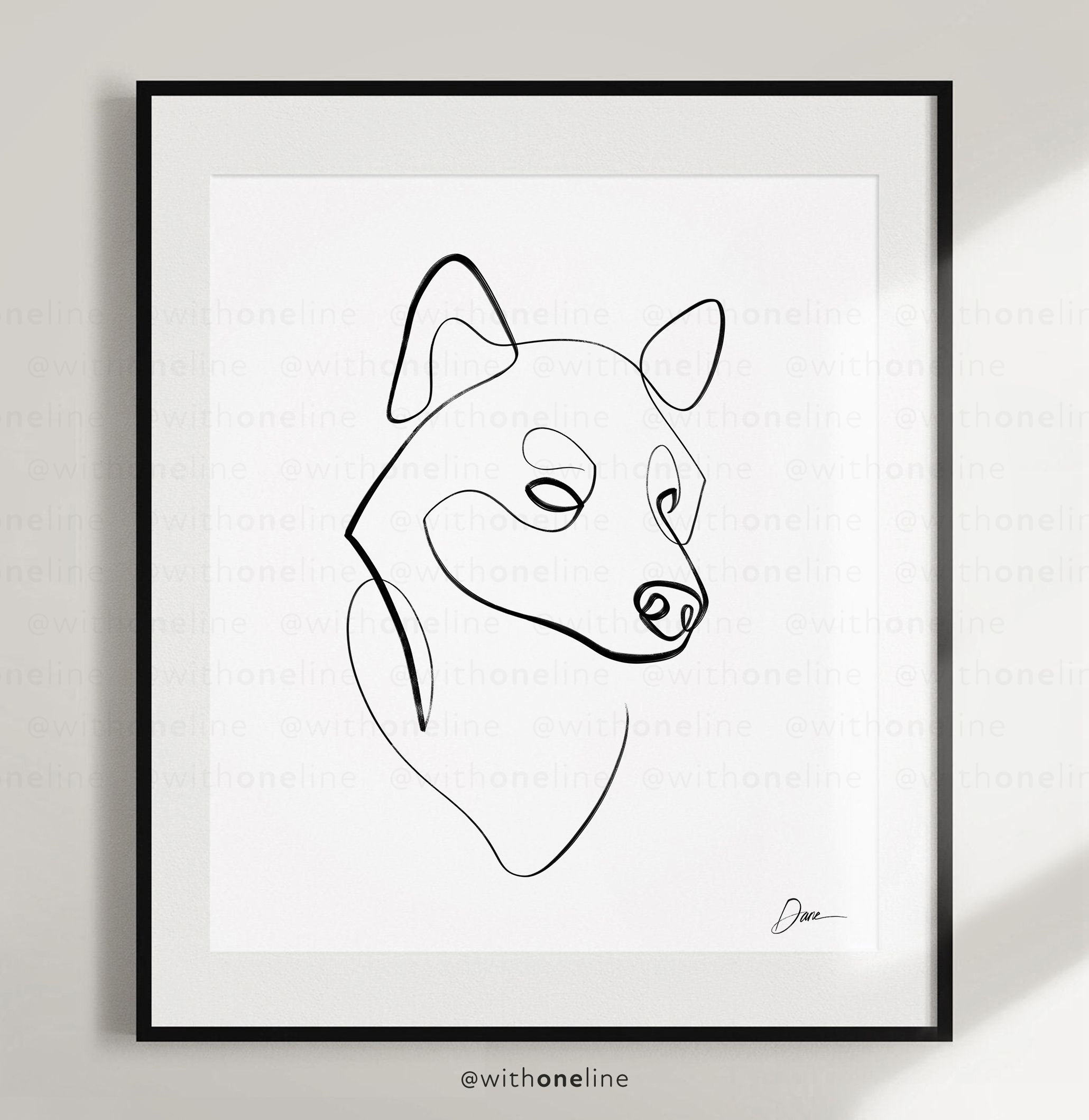Shiba Inu Art Poster Print Gift By Withoneline Cute Dog Etsy In 2020 Dog Line Drawing Line Art Drawings Posters Art Prints