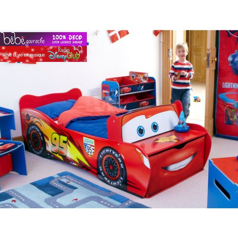 Chambre enfant Cars Disney - Lit flash McQueen | Lucio room ...