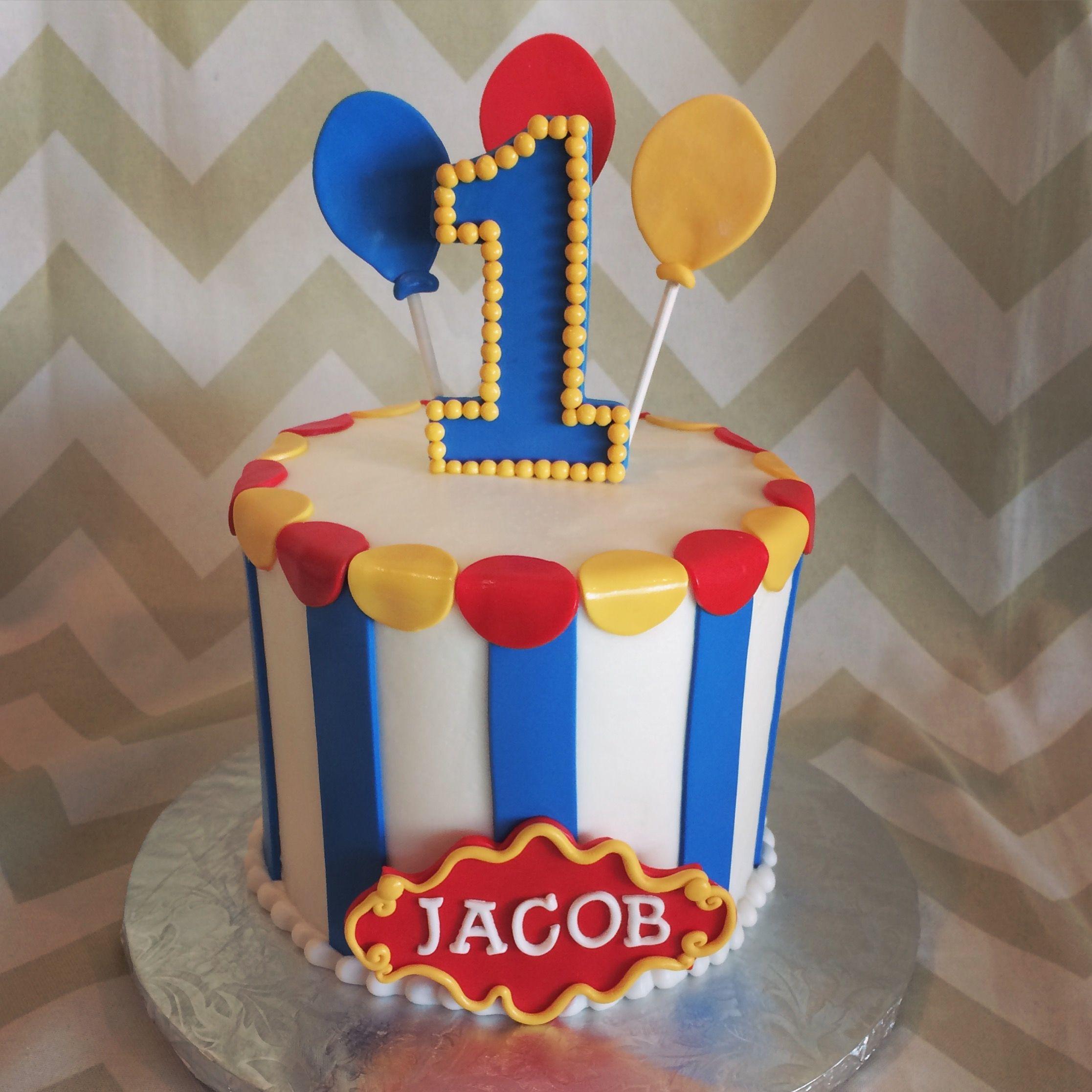 Circus Smash Cake | Milk & Honey Cakery