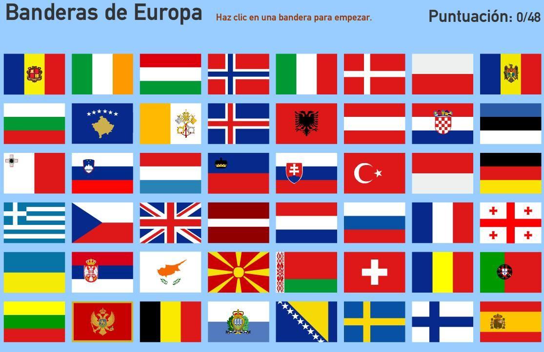 Pintar NiÑos Del Mundo Por Paises Y Banderas: Mapa Interactivo De Europa Banderas