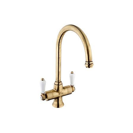 View Cooke & Lewis Chambley Antique Brass Effect Monobloc Tap ...