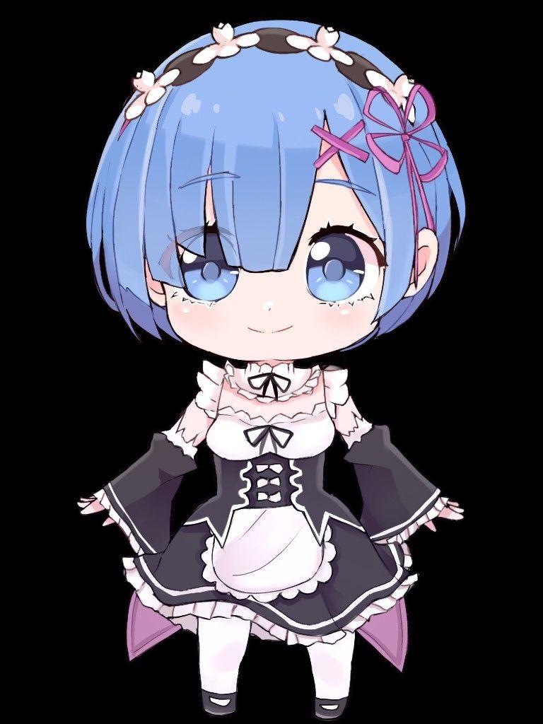Chibi Rem Re Zero Png Transparent In 2021 Chibi Anime Anime Chibi