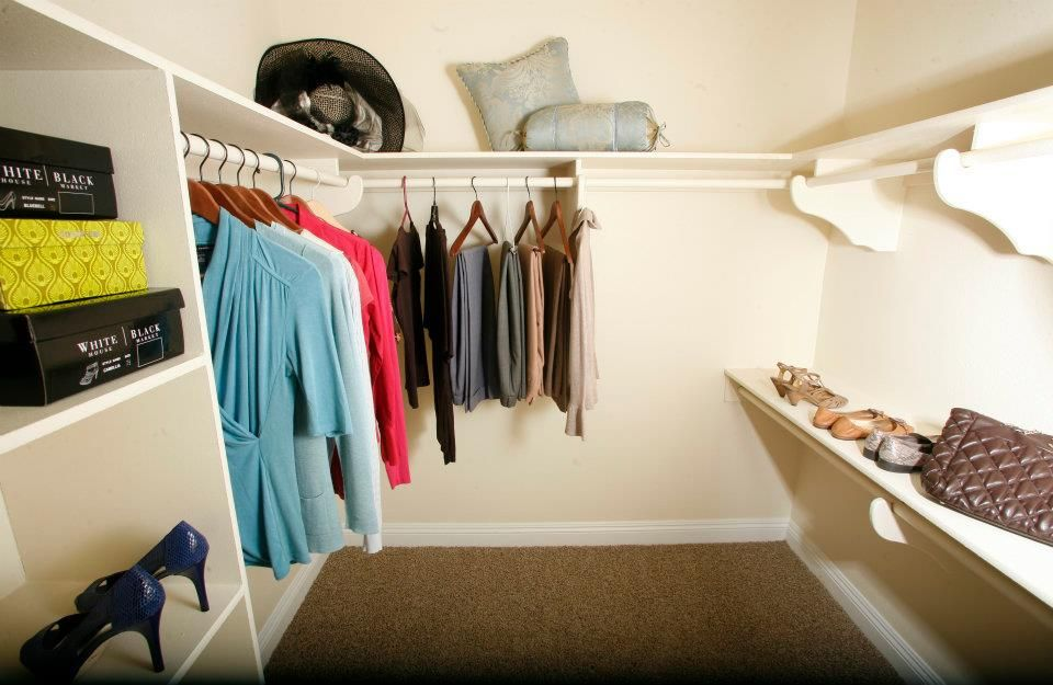 Our walk in closets are made to hold an abundance of your most lovely treasures!