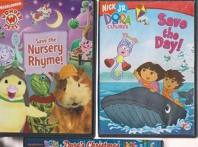 NICK JR. DVD LOT-SAVE THE NURSERY RHYME-DORA SAVES THE DAY-DORA'S ...