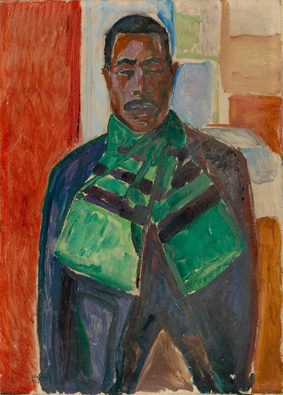 African with Green Scarf 1916 / Oil on canvas / 111 x 72,5 cm Munch Museum