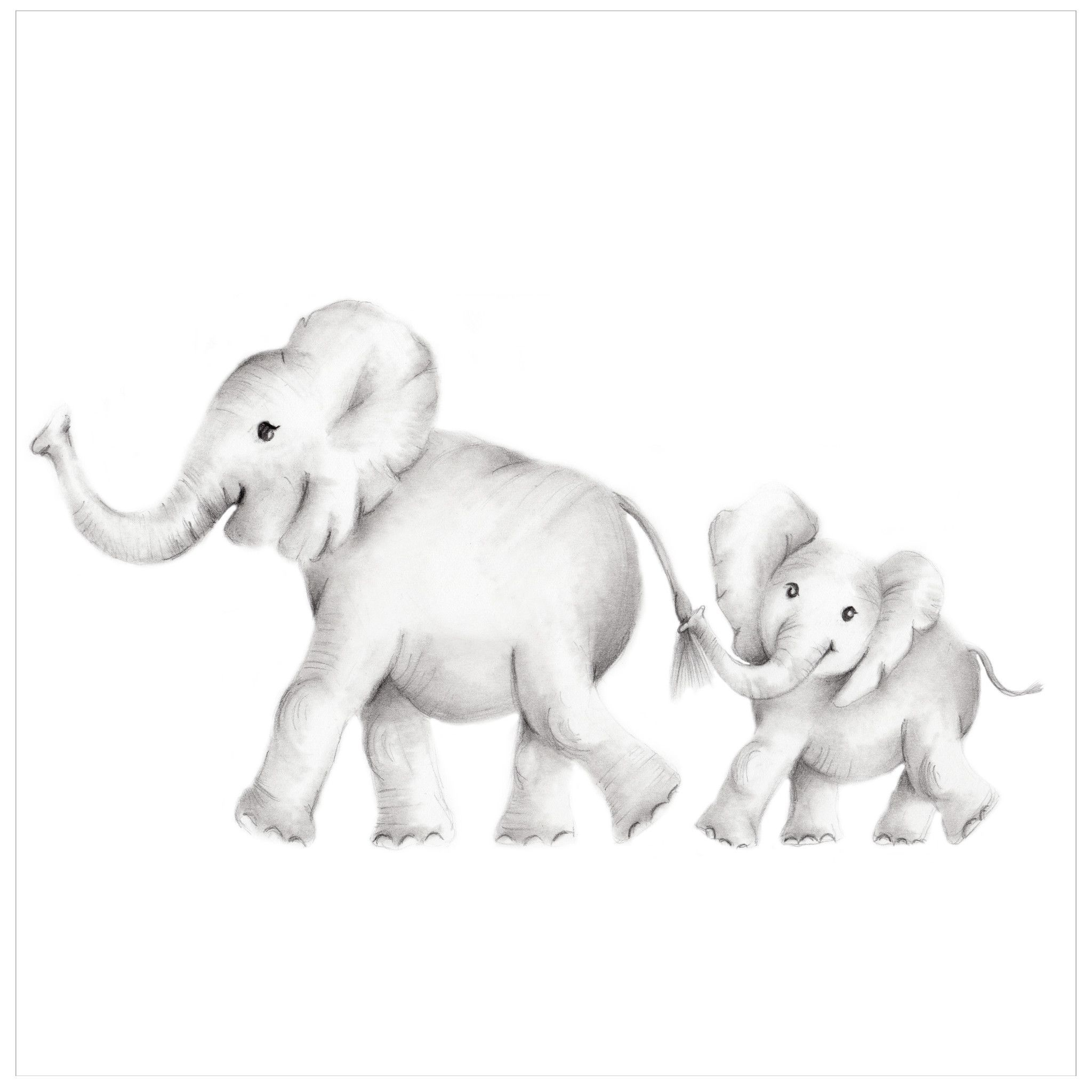 Elephant Family Print Welcome New Baby Love heart Safari | Etsy | Safari  animal prints, Safari animal prints nursery, Elephant family drawing