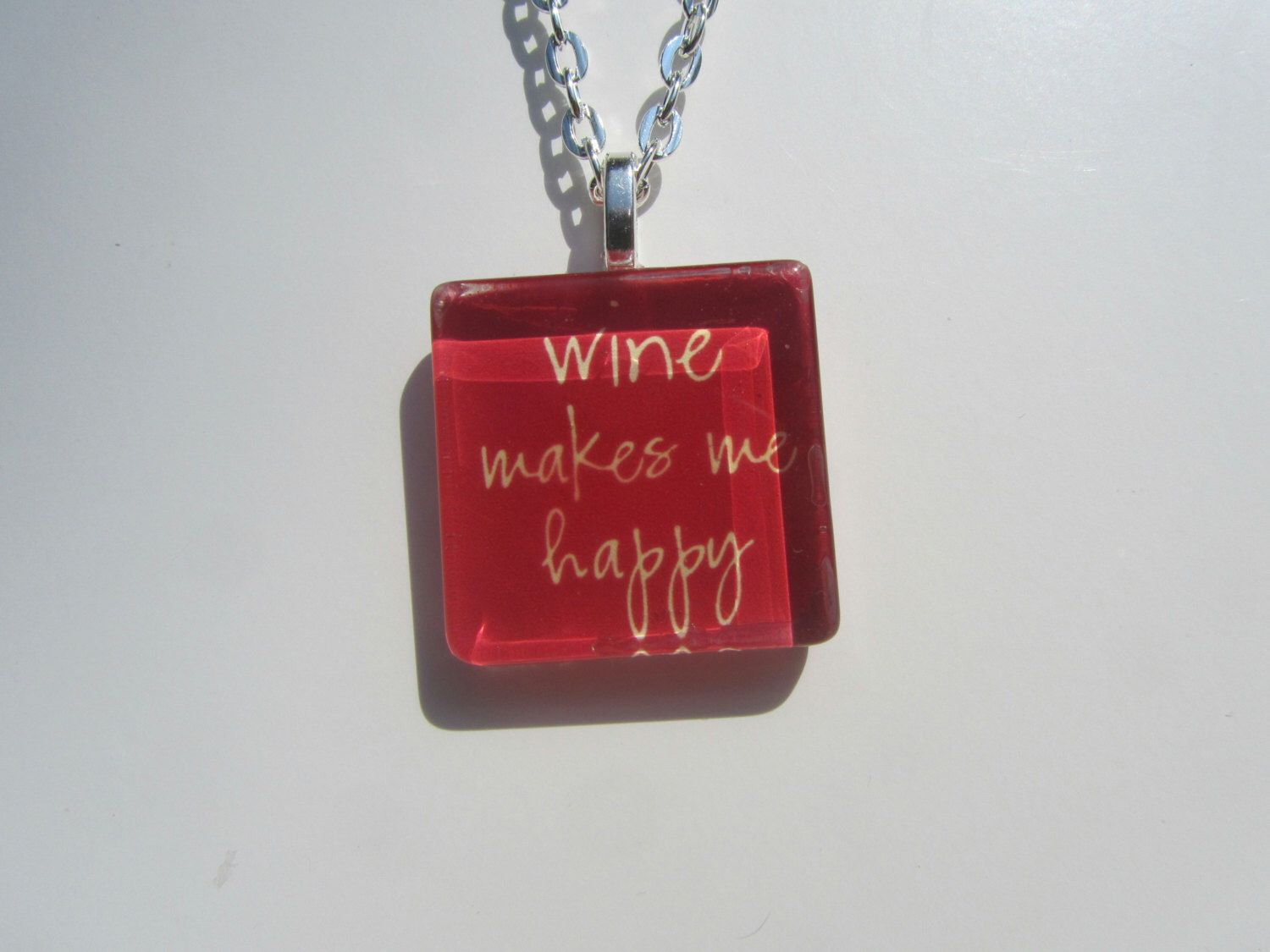 Pin By Darci Ricker On Wine Theme Silver Chain Necklace Glass Pendants Pendant Necklace