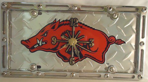 "1 , Quartz Clock, on, ""ARKANSAS RAZORBACKS"", Metal Sign, on a, Metal, Slotted Rim, Frame,,6A3.3&6A2.8,,,SHIPPED USPS,,,, ASTRODEALS,http://www.amazon.com/dp/B00EWODG3S/ref=cm_sw_r_pi_dp_45B8sb074TDSRNXB"