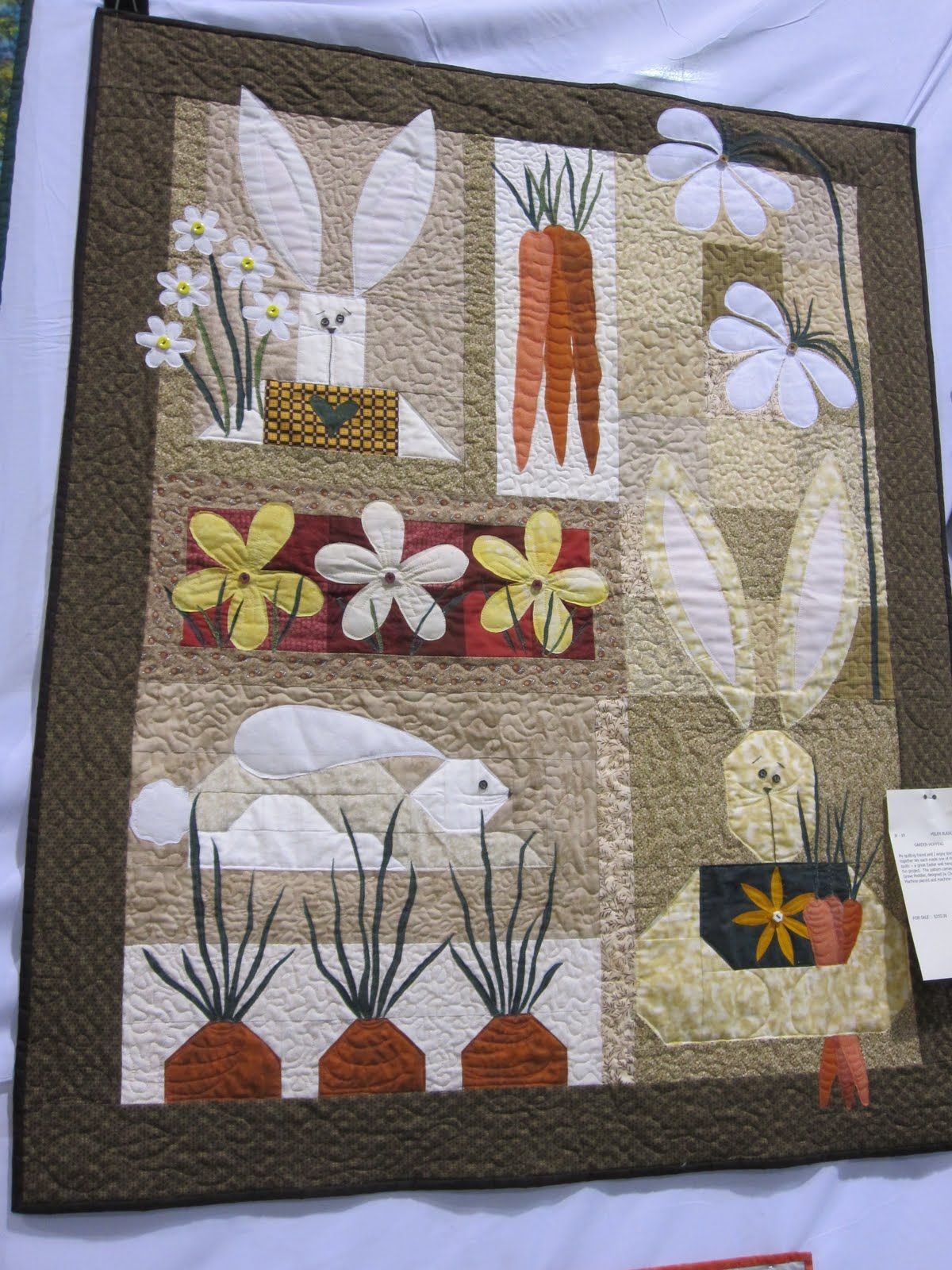 What A Beautiful Quilt Hanging Hippity Hoppty Easter On