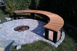 Photo of Garden Fireplace With Bench