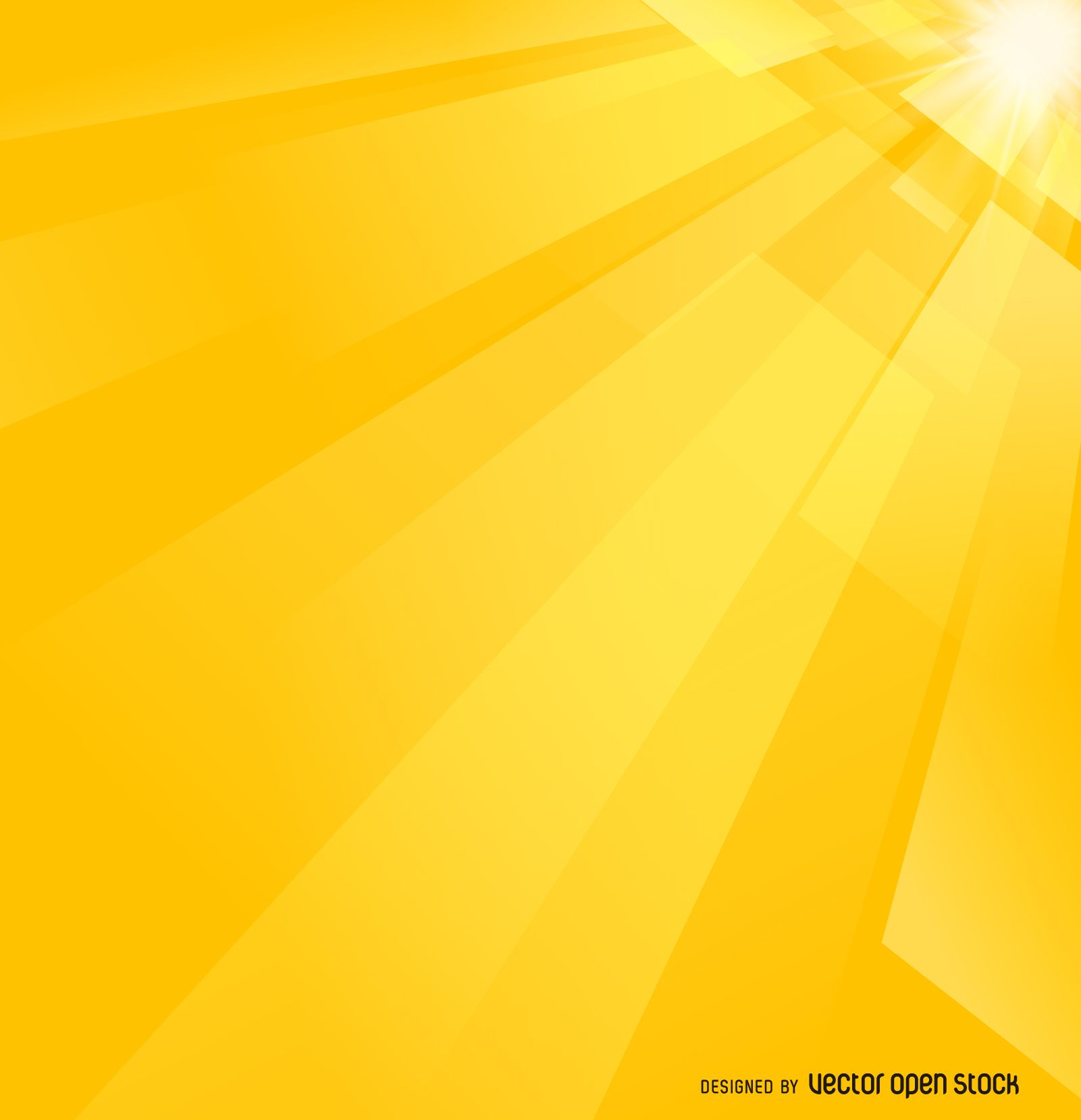Abstract Background With Geometric Shapes In Tones Of Yellow Bright Design