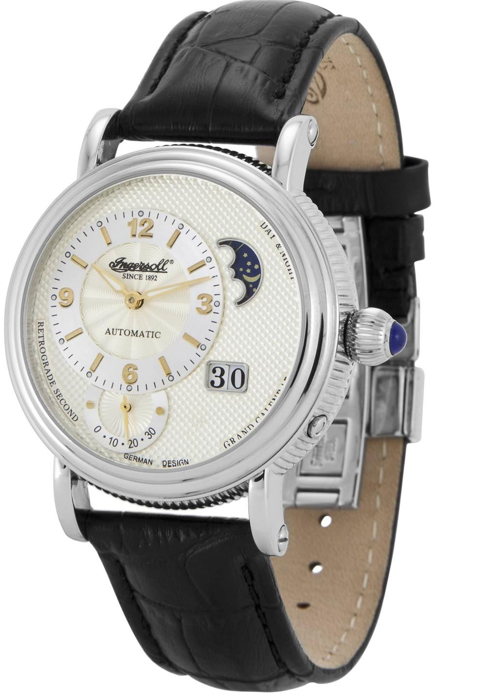 Ingersoll 8702WHIN Day Night Grand Calendar Automatic $399 Ingersoll Watches,  Modern Watches, Watches For