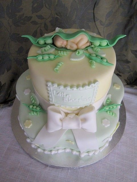 Sweet Pea. I LOVE This Cake!! Match This With The Sweet Pea Embroidery. Baby  CakesBaby Shower ...