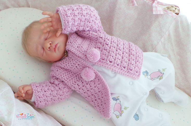 BABY-CARDIGAN, CROCHET-Muster, Unisex-Strickjacke, Fototutorial, Baby-Strickjacke, Baby-Stric... #uncinettoperbambina