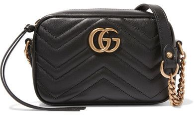 3c34499d62f Bag · Gucci Marmont Camera Mini Quilted Leather Shoulder Bag
