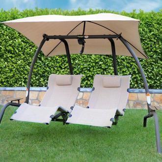 New 422l Swing Zero Gravity 2 Person Swing Garden Swing Seat Patio Swing Garden Swing