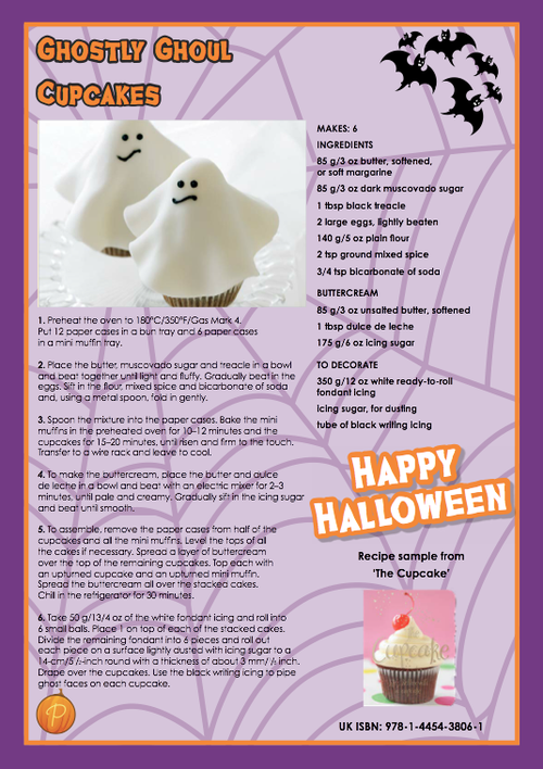 Looking for a Halloween-themed recipe for tonight? Check out these spook-tastic cupcakes from Love Food cookbookThe Cupcake.