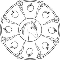 pferde mandala kostenlos | mandala kostenlos, mandala pferd, ausmalbilder