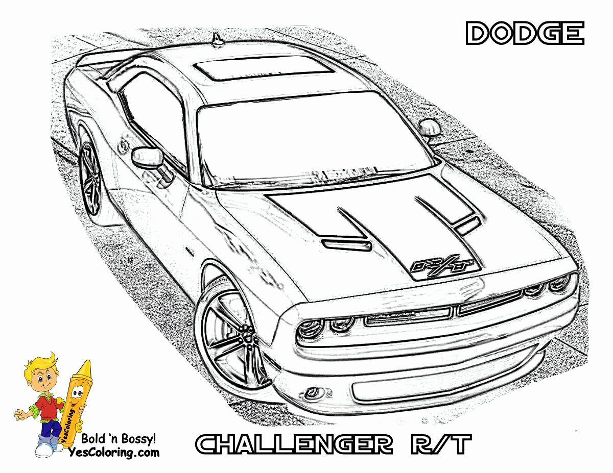 28 Dodge Charger Coloring Page In