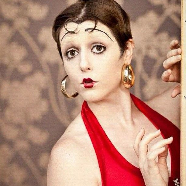 Betty Boop inspired 1920s hair and makeup. Simone Closson ...
