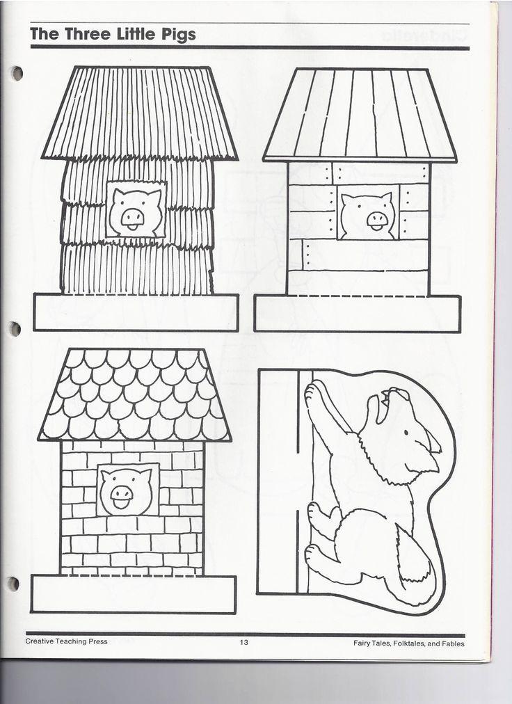 image result for 3 little pig clipart houses black and white easy rh pinterest com