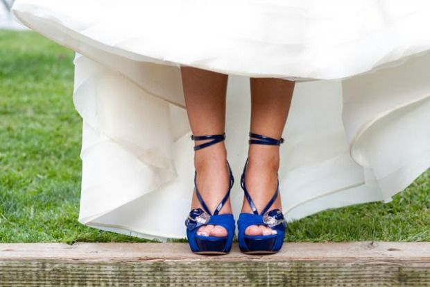 nos encanta! #somethingblue super especial, #zapatos azules con el