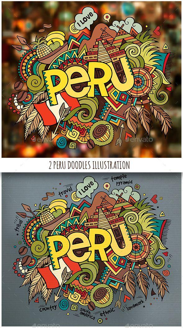 10d417372376 2 Peru Doodles Illustrations