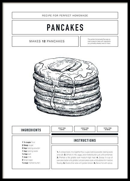 Pancake Recipe Affiche