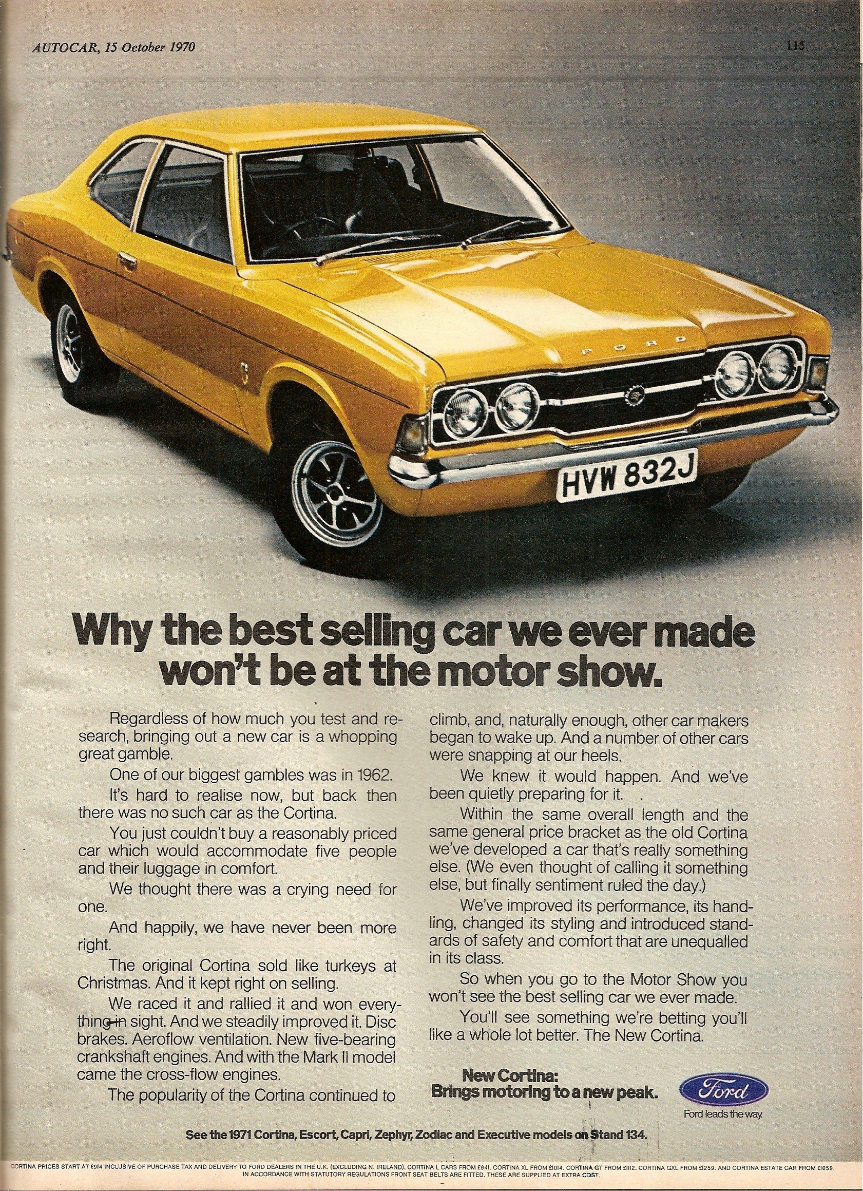 The Ford Cortina Twenty Years Of Advertising Britain S