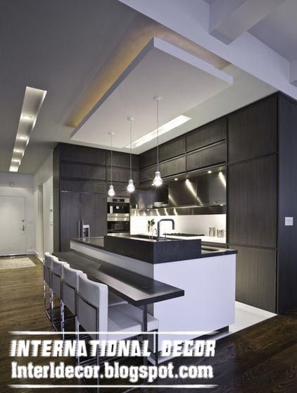 Exceptional Suspended Gibson Board Ceiling Design For Modern Kitchen