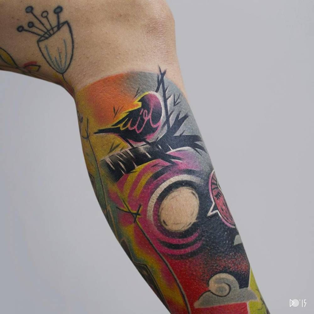 Gallery images and information soundgarden badmotorfinger tattoo - Tatuaje De Estilo Abstracto Situado En La Pierna Tatuajes Para Hombres