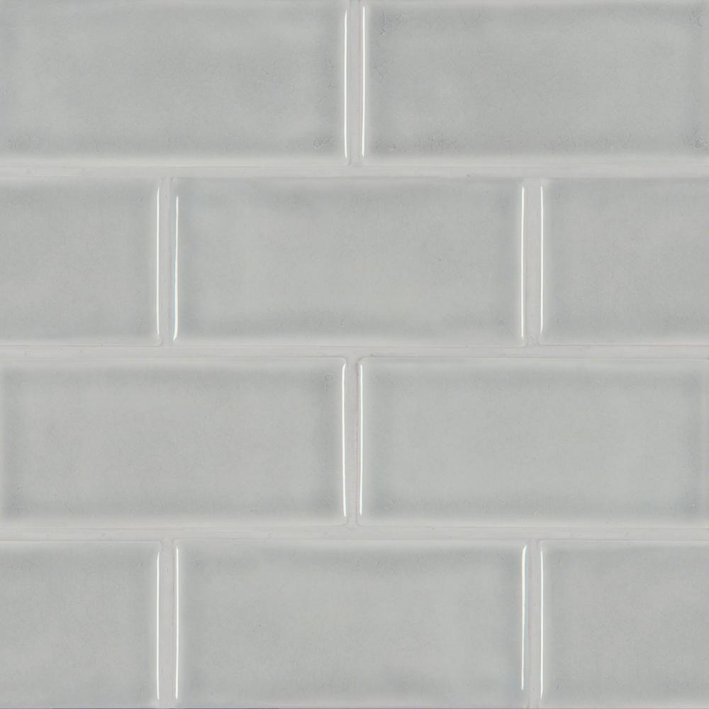Msi Morning Fog 3 In X 6 In Handcrafted Glazed Ceramic Wall Tile 1 Sq Ft Case Pt Mofog36 Ceramic Subway Tile Ceramic Wall Tiles Subway Tile