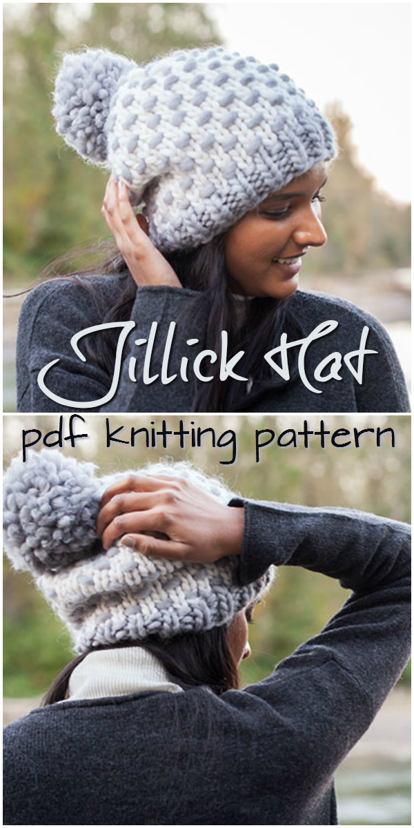 I Love This Cute Knit Hat Pattern Such A Sweet And Simple Slouchy
