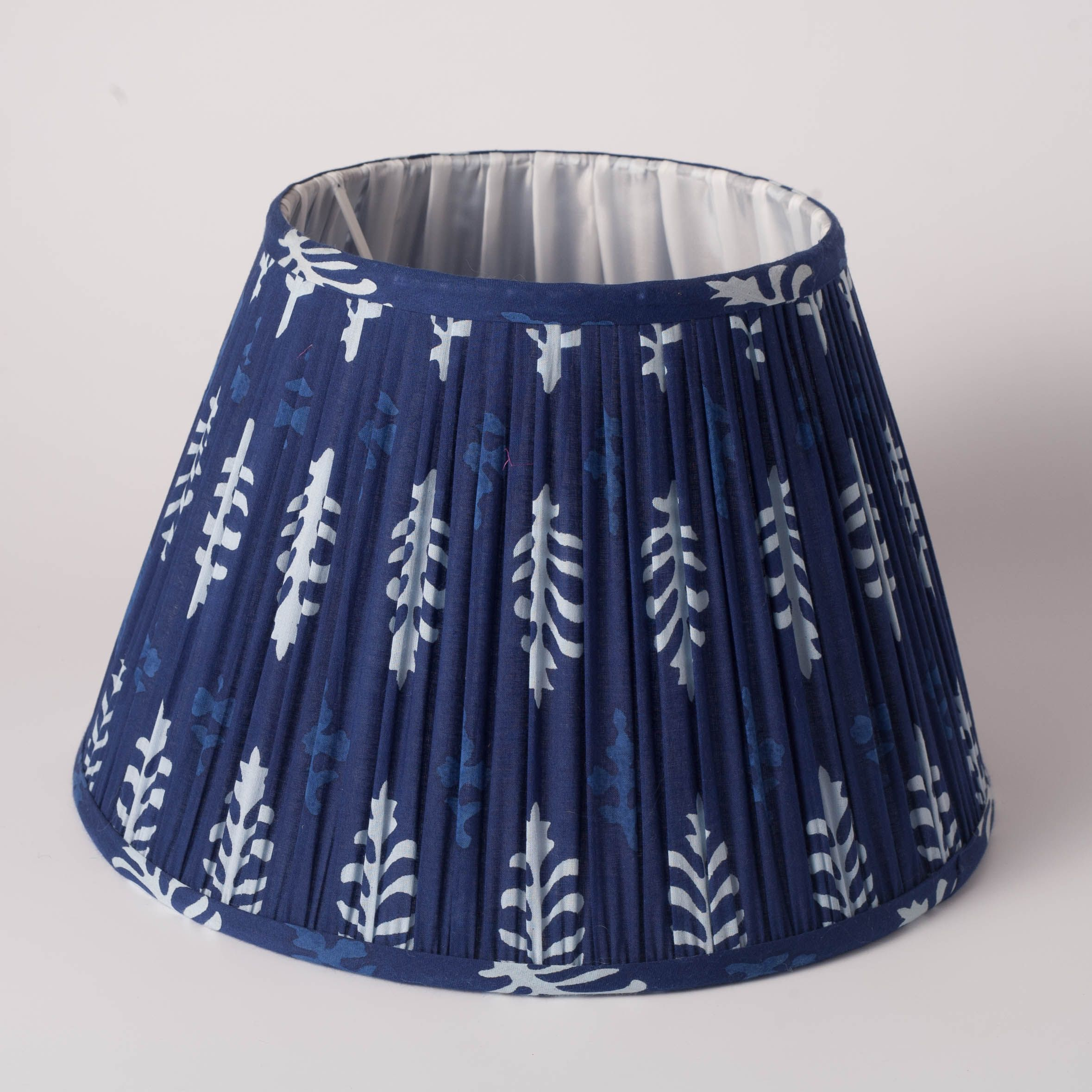 Blue Cotton Block Print Lampshade