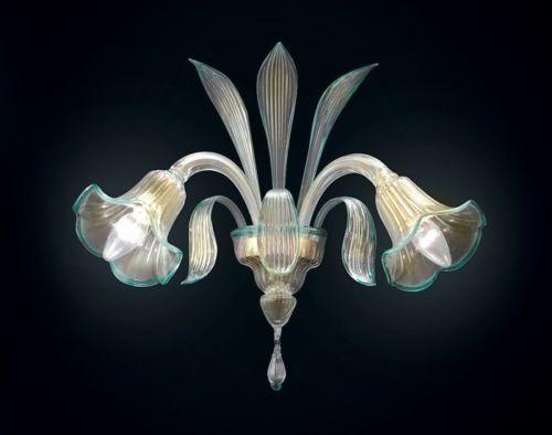 Applique en verre de murano topdomus sospiri a2 or authentique de
